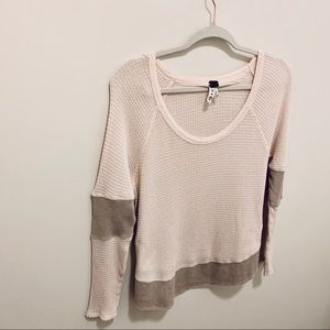 We The Free/Free People Waffle Knit Color Block T
